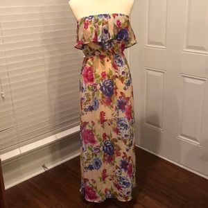 F21 floral maxi size small NWOT